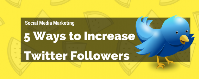 5 Ways to Increase Twitter Followers