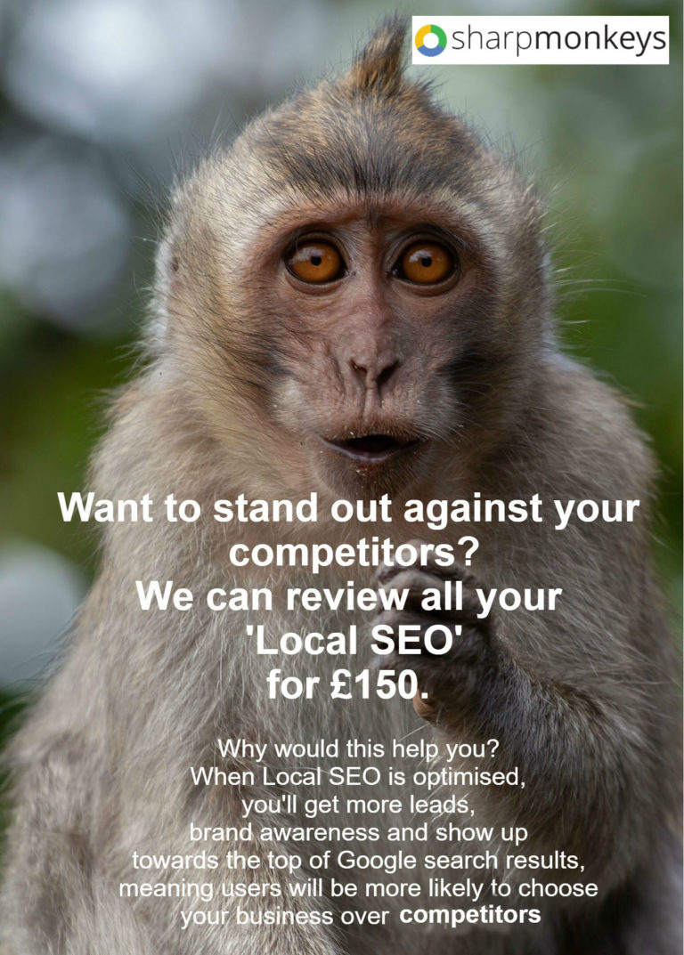 We can review all your Local SEO for £150.